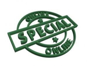 """Online Special"" 3D stamp"